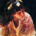 Head of Indian beauties. 1875, Ilya Repin