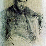 Portrait of the artist Valentin Serov. 1897, Ilya Repin