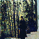 Female figure in a landscape. 1883, Ilya Repin