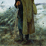Ilya Repin - At home. The hero of the last war. 1878