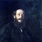 Ilya Repin - Portrait of the artist Nikolai Ge. 1880