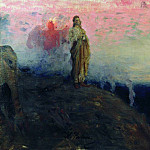 Ilya Repin - Go behind me, Satan (temptation of Christ). 1901-1903