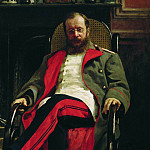 Ilya Repin - Portrait of the composer Cesar Antonovich Cui. 1890