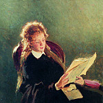 Read the girl. 1876, Ilya Repin