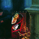 Ilya Repin - Self-immolation by Gogol. 1909