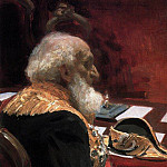 Portrait of an honorary member of the Academy of Sciences and Academy of Arts Semenov - Tian-Shansky. 1901, Ilya Repin
