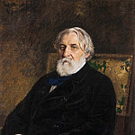 Portrait of the writer Ivan Turgenev. 1874, Ilya Repin