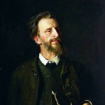 Ilya Repin - Portrait of the artist GG Myasoyedov. 1884, 1886