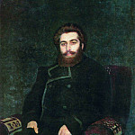 Ilya Repin - Portrait of the artist AIKuindzhi. 1877