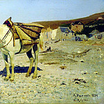 Horse for the collection of stones in Velay. 1874, Ilya Repin