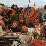 Ilya Repin - Zaporozhye Cossacks Writing a Letter to the Turkish Sultan. 1880