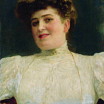 Ilya Repin - Portrait of a Woman (Olga Shoofs). 1907