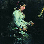 For piano. Portrait of SV Tarnovskaya. 1880, Ilya Repin