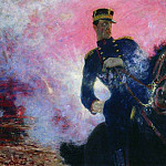 Belgian King Albert at the time of the explosion of the dam in 1914. 1914, Ilya Repin