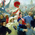 Alexander Ivanov - Manifestation. October 17, 1905. 1907. Modified in 1911