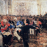 Ilya Repin - A. Pushkin on the act in the Lyceum on Jan. 8, 1815. 1910