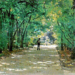 Alley in the park. Kachanivka. 1880, Ilya Repin