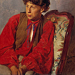 Portrait of Repin, brother of the artist. 1867, Ilya Repin