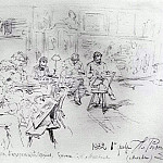 Ilya Repin - In Repins studio. Drawing evening. 1882
