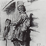 A beggar with a wallet. 1879, Ilya Repin