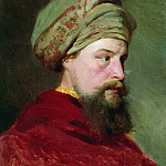Ilya Repin - Head sitter. The second half of XIX century