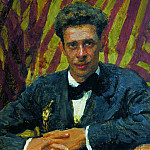 Portrait of Nikolai Remizov. 1917, Ilya Repin