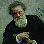 Portrait of the writer Vladimir Korolenko. 1912, Ilya Repin