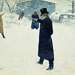 duel between Onegin and Lensky. 1899, Ilya Repin