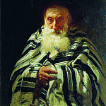 Jew at prayer. 1875, Ilya Repin