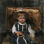 Ilya Repin - Portrait of Ilya Repin, the daughter of the artist as a child. 1874