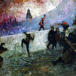 Ilya Repin - In the besieged Moscow in 1812. 1912