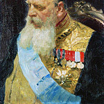 Ilya Repin - Portrait of Count DM Solsky. 1903