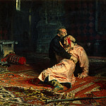 Vasily Vereshchagin - Ivan the Terrible and His Son Ivan on November 16, 1581