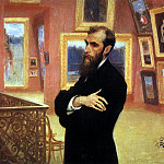Vasily Vereshchagin - Portrait of Pavel Tretyakov. 1901