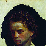 Ilya Repin - Portrait of the sculptor IYGinzburg in his youth. 1871
