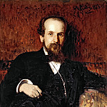 Ilya Repin - Portrait of the Artist Pavel Chistyakov. 1878