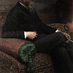 Ilya Repin - Portrait of the composer Rimsky-Korsakov. 1893