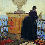 Ilya Repin - On the waterfront. Start 1900