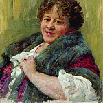 Portrait of the writer TL Shchepkina-Kupernik. 1914, Ilya Repin