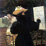 M. Tenisheva at work. 1897, Ilya Repin