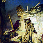 Lamentations of Jeremiah the prophet on the ruins of Jerusalem. 1870, Ilya Repin