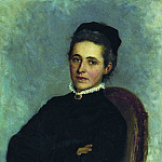 Portrait of Julia Bogdanovna Reiman, born Krause, wife of Dr. AH Reiman. 1881, Ilya Repin