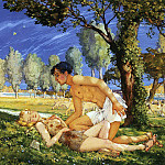 Illustration for the novel Daphnis and Long Hloya4. 1930, Konstantin Andreevich (1869-1939) Somov