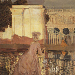 Konstantin Andreevich (1869-1939) Somov - lady in the pond. 1896