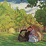 Konstantin Andreevich (1869-1939) Somov - Summer morning. 1920
