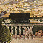 Konstantin Andreevich (1869-1939) Somov - Two ladies on the terrace. 1896