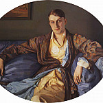 Konstantin Andreevich (1869-1939) Somov - Portrait of Louise Morgan. 1926