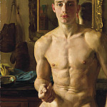 Konstantin Andreevich (1869-1939) Somov - The Boxer 1933