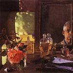 Self Portrait in the mirror. 1934, Konstantin Andreevich (1869-1939) Somov