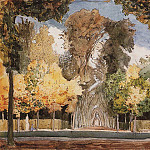 Konstantin Andreevich (1869-1939) Somov - Versailles park in the autumn. 1898